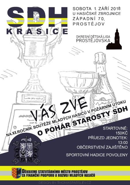 Sbor dobrovolných hasičů Krasice Vás zve na XII. ročník domácích závodů O pohár starosty SDH