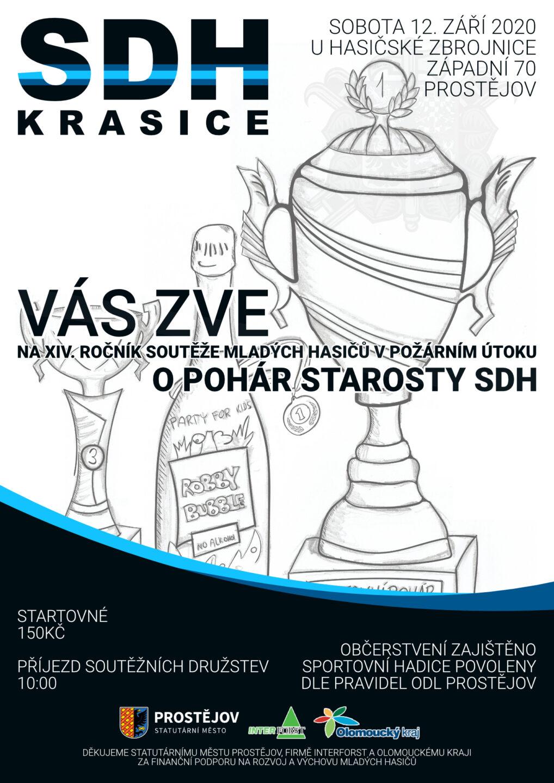 Sbor dobrovolných hasičů Krasice Vás zve na XIV. ročník domácích závodů O pohár starosty SDH - 12. září 2020 od 10:00