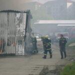 Požár skladu zbytkových látek v Gale Prostějov - Krasice