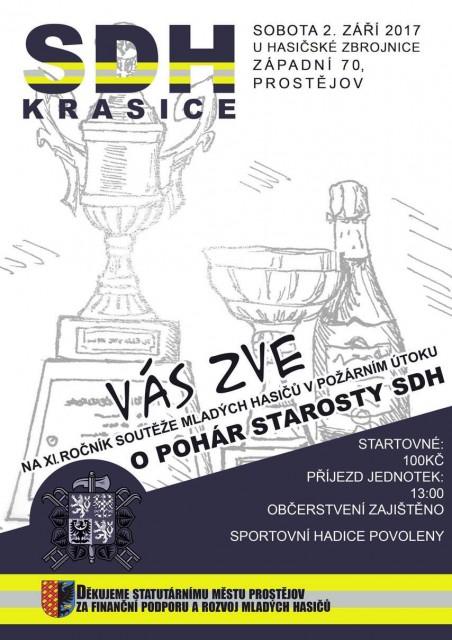 Sbor dobrovolných hasičů Krasice Vás zve na XI. ročník domácích závodů O pohár starosty SDH
