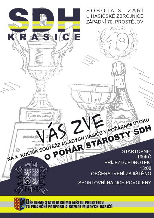 Sbor dobrovolných hasičů Krasice Vás zve na X. ročník domácích závodů O pohár starosty SDH